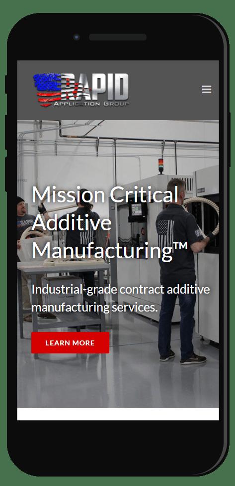 Manufacturing industry website design