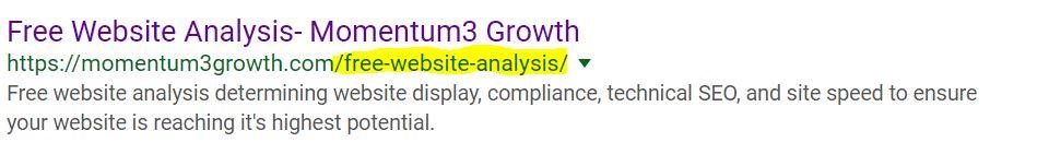 metadata URL slug