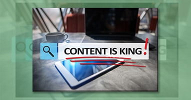 Graphic design services - content is king