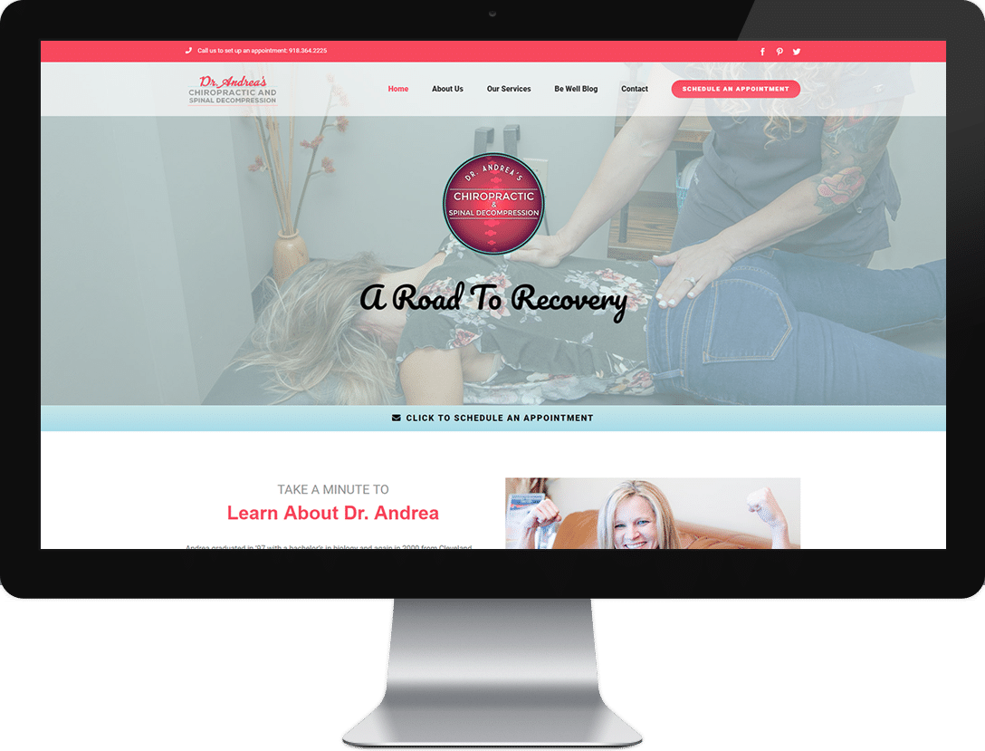 Web design services - Dr Andrea's chiropractic