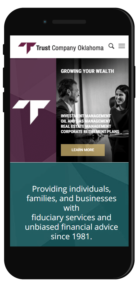 Fintech industry website design